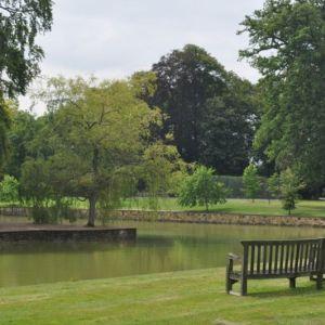 Bild Der angrenzende Park läd zum Verweilen an