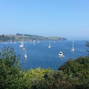 Blick vom Trebah Garden aufs Meer - welche Pilcherszenen wohl hier gedreht wurden...