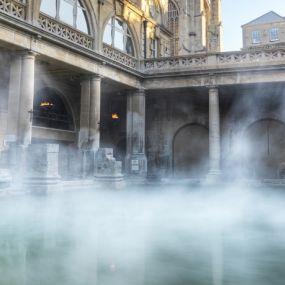 Entspannung in den römischen Bädern von Bath