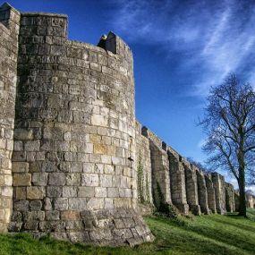 Mauer in York  - Urlaub in England