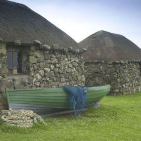 Typisches Cottage auf den Hebrideninseln