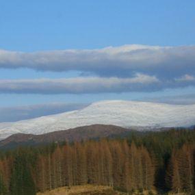 Blick auf den Ben Nevis, Schottlands höchsten Berg