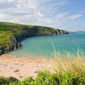Mittagspause in einer der zauberhaften Dünen Cornwalls