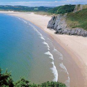Blick aufs offene Meer - South West Coast Path