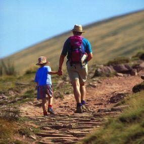 Als entspannte Variante mit Kindern unterwegs