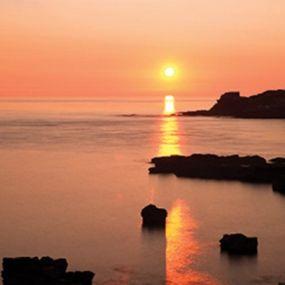 Sonnenuntergang am Lizard Point