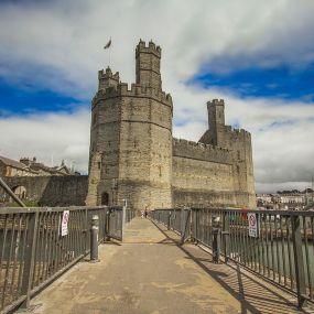 Caernarfon Castle an der Nordwestküste
