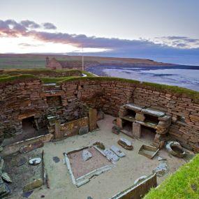 Skara Brae - ein komplett erhaltene Dorf aus der Jungsteinzeit.